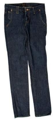 Chimala Low-Rise Straight-Leg Jeans
