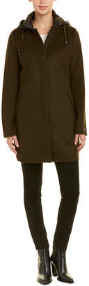 Dawn Levy Elina Hooded Wool-Blend Coat