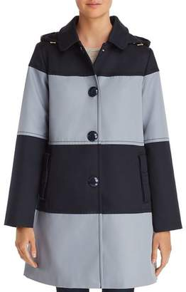 Kate Spade Color-Block Trench Coat