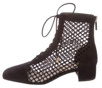 Christian Dior Naughtily Mesh-Accented Boots