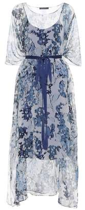 Max Mara Bahamas floral-printed silk dress