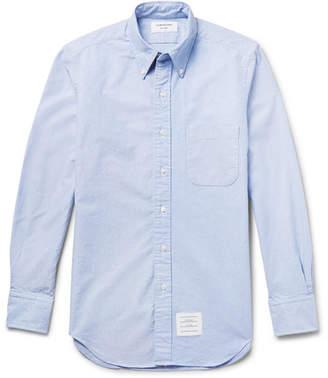 Thom Browne Slim-Fit Button-Down Collar Cotton Oxford Shirt