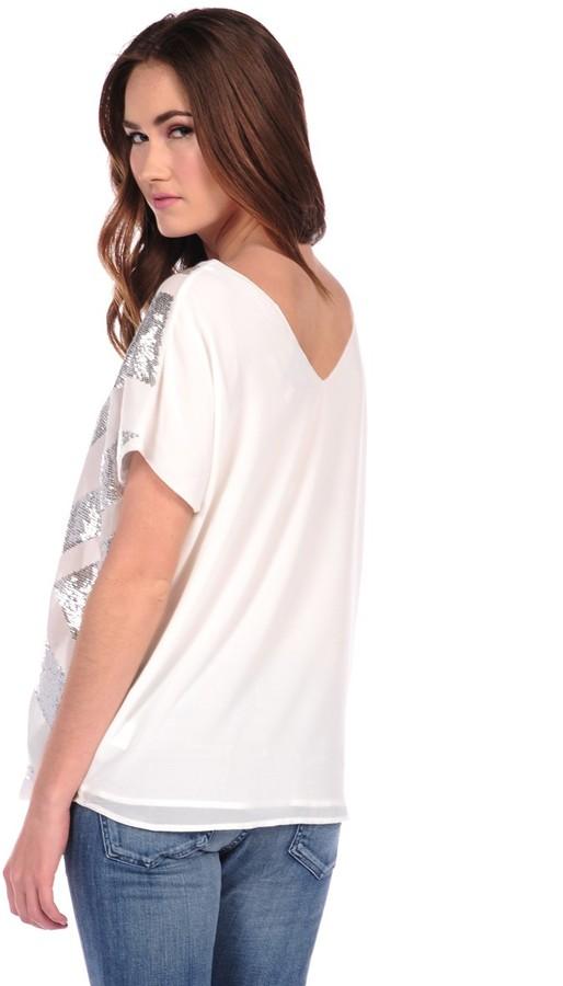 Romeo & Juliet Couture Chevron Sequin Top