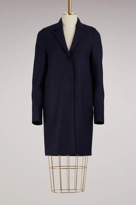 Harris Wharf London Cocoon Coat Pressed Wool