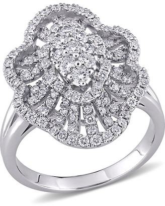 Diamond Select Cuts 14K 1.10 Ct. Tw. Diamond Floral Ring
