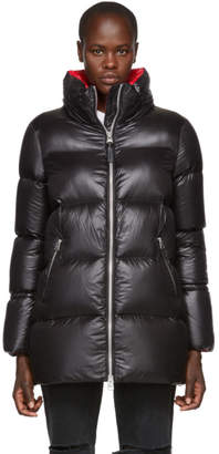 Mackage Black Aiko Contrast Lustrous Down Coat