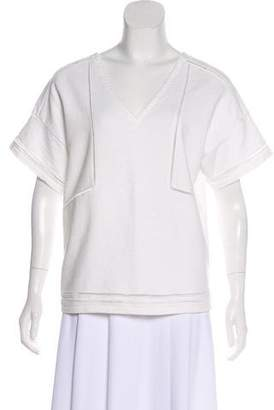 Band Of Outsiders Terry Cloth Short Sleeve Top