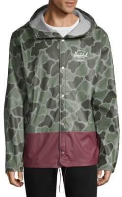 Herschel Men's Forecast Hooded Coach Jacket - Frog Camo - Size XL