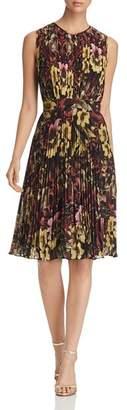 Catherine Malandrino Desree Pleated Floral-Print Dress