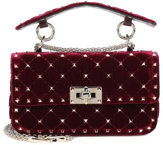Valentino Rockstud Spike Small velvet shoulder bag