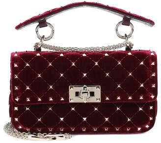 Valentino Rockstud Spike Small velvet shoulder bag