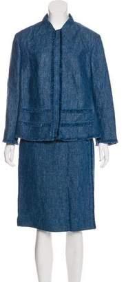 Akris Punto Linen Skirt Suit