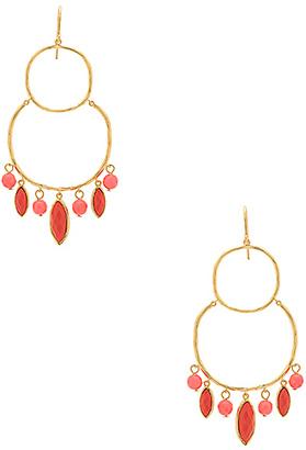 gorjana Eliza Tiered Chandelier Earrings in Metallic Gold. $95 thestylecure.com
