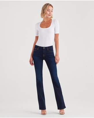 7 For All Mankind BAir Denim Kimmie Bootcut In Tranquil Blue