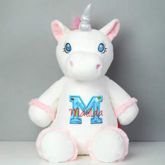 142c604289 Simply Colors Personalised Monogram Unicorn Soft Toy