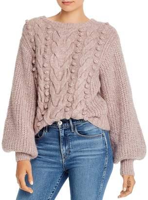 Eleven Paris Six Charlotte Alpaca-Blend Mixed-Knit Sweater
