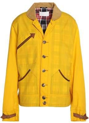 Maison Margiela Corduroy-Trimmed Coated-Cotton Jacket