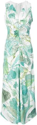 Peter Pilotto botanical ruched dress
