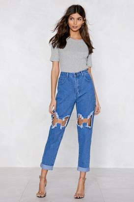 Nasty Gal You Better Ring Me O-Ring Jeans