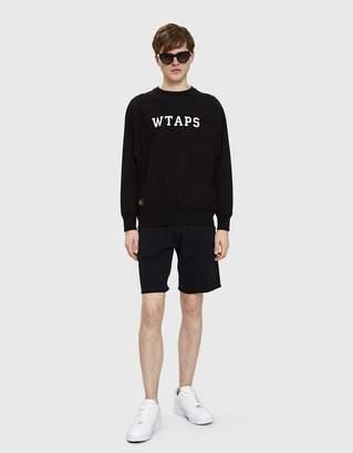 Wtaps Design Crewneck in Black