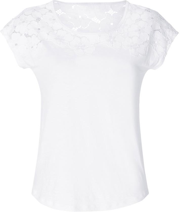 Sandro Linen Tourbillion Top in White