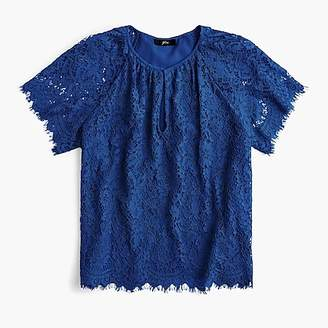 J.Crew Short-sleeve lace top