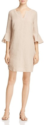 Three Dots Bell Sleeve Linen Dress $128 thestylecure.com