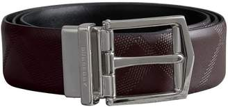 Burberry Reversible Embossed Check Leather Belt