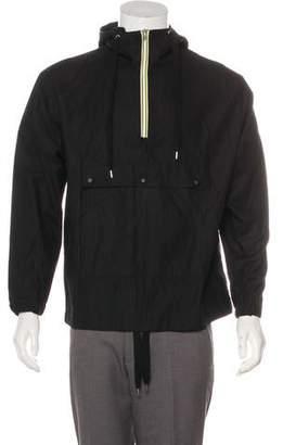 Kris Van Assche Woven Hooded Windbreaker Jacket