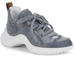 Sam Edelman Mena Distressed Denim Dad Sneakers
