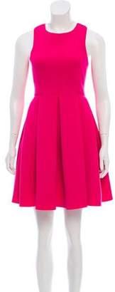 Tibi Mini Sleeveless Pleated Dress