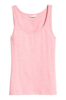 H&M Jersey Tank Top - Dark gray - Women