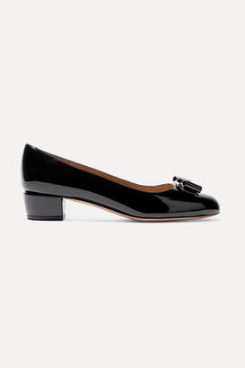 Salvatore Ferragamo Vara Patent-leather Pumps - Black