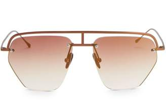 Smoke X Mirrors The Line-1 52MM Aviator Browline Sunglasses