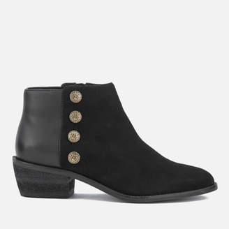 Dune Women's Panella Suede Ankle Boots - Black