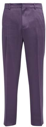 Sies Marjan - Toby Wool Blend Satin Trousers - Mens - Purple