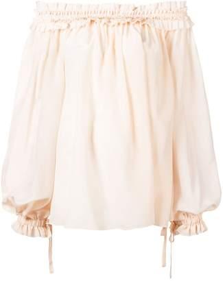 Haider Ackermann ruffled trim blouse