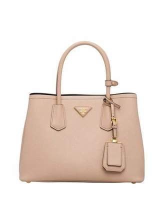 44679221e9d4 Prada Saffiano Cuir Double Small Tote Bag