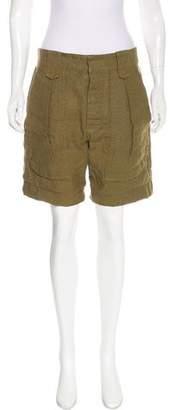 Isabel Marant Linen High-Rise Shorts