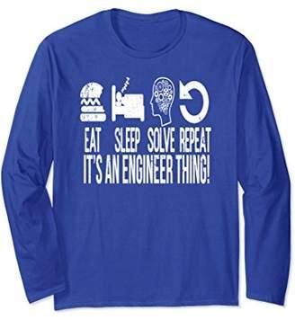 Eat Sleep Design Repeat Engineer Vintage Long Sleeve T-Shirt
