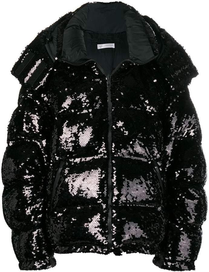 sequin puffer jacket