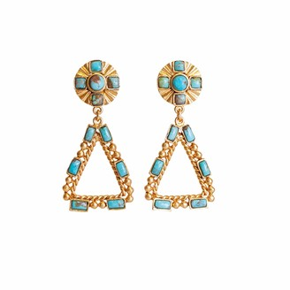 Christina Greene Southwestern Chandelier Earring In Turquoise