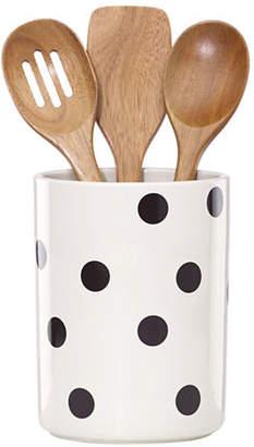 Kate Spade Scatter Dot Utensil Crock Set