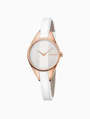 Calvin Klein rebel leather watch