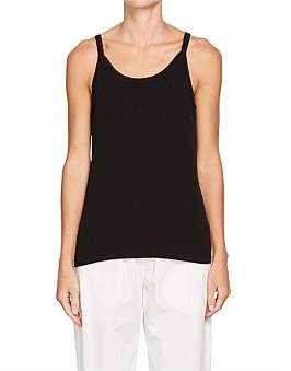 Bassike Fitted Rib Athletic Tank