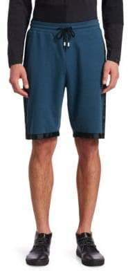 Saks Fifth Avenue x Anthony Davis Grosgrain Trim Knit Shorts