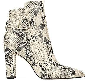 Sam Edelman Women's Rita Snakeskin-Embossed Leather Ankle Boots