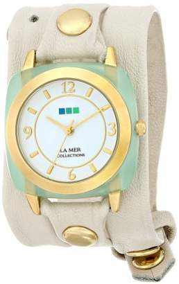 La Mer Women's Quartz Stainless Steel and Leather Casual Watch