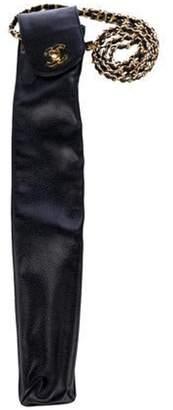 Chanel Quilted Umbrella Case Black Quilted Umbrella Case