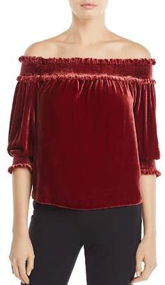 Whistles Velvet Off-the-Shoulder Top - 100% Exclusive